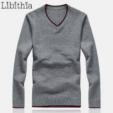 s wool sweaters aliexpress com buy s wool sweaters solid color slim fit v