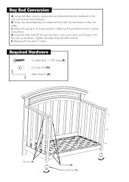 How To Convert Crib To Daybed by Day Bed Conversion Required Hardware Westwood Design Geneva