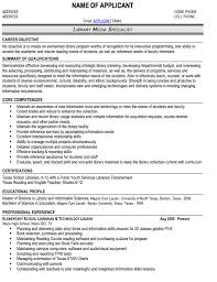 Media Resume Sample by Page 1 Professional Librarian Resume Sample Part Time Job As