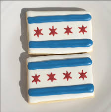 Stars On Chicago Flag Sugar Cookies U2014 Honeybear Baking