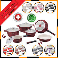 royalty line switzerland pots 16 pieces amazon co uk kitchen u0026 home