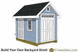 Backyard Storage Sheds Plans by 8x12 Shed Plans Buy Easy To Build Modern Shed Designs