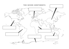 20 7 continents worksheet oceans and continents project from