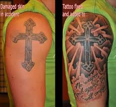 depiction gallery tattoos coverup cross fix up