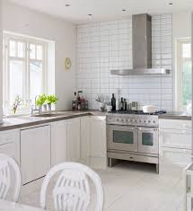 White And Red Kitchen Ideas Interior White Scandinavian Kitchen With Rustic Dinning Table