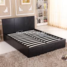 storage bed frame with gas lift storage bed frame with gas lift