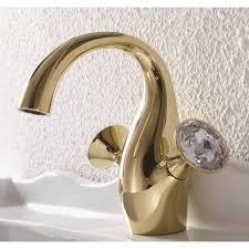 single hole sink faucet crystal dual handle single hole bathroom sink faucet in gold faucet png