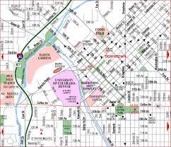 road map of denver downtown denver colorado aaccessmaps