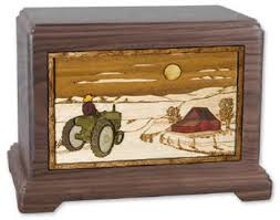 cremation boxes farmer and tractor cremation urn memorial urns