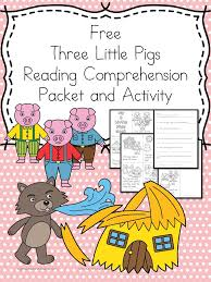 fairy tale reading comprehension 3 pigs activity