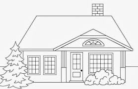 house drawing for colouring u2013 modern house