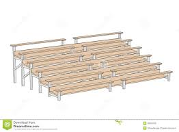 illustration of stadium bench stock illustration image 39550169