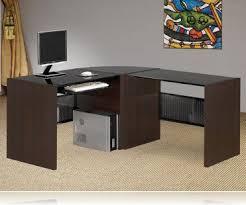 Wrap Around Computer Desk Computer Desk Contemporary Black Glass Top L Desks Coaster 800218