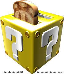 Maple Leafs Toaster Super Mario Bros Toaster Block Cube Mushroom Toast Nintendo 2011