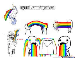 Puking Rainbow Meme - enter it in puke rainbows by recyclebin meme center