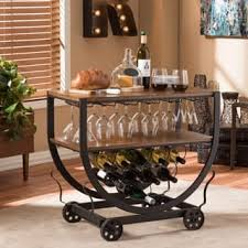 industrial iron wood kitchen trolley natural black buy kitchen black kitchen carts for less overstock com
