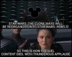 Star Wars Disney Meme - star wars 15 dank rebels vs clone wars memes ultimate comicon