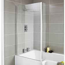 premier quattro hinged bath screen nsbs3 6mm clear chrome
