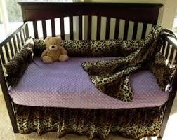 Pink Cheetah Crib Bedding Leopard Baby Bedding Etsy