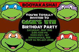 free printable ninja turtle birthday invitations badbrya