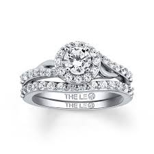 Platinum Diamond Wedding Rings by The Collection The Leo Diamond