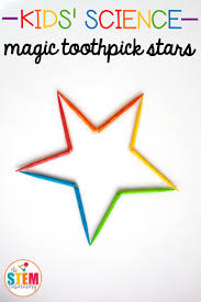 awesome kids u0027 science project make a magic toothpick star great