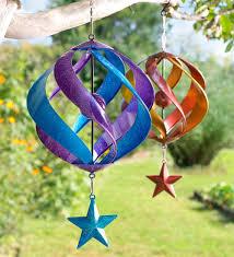 hanging metal spiral spinner garden stuff planters decorations
