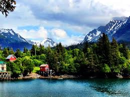 Kenai Alaska Map by Halibut Cove Alaska Buildings And Houses On Stilts And Get