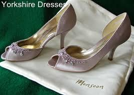 wedding shoes monsoon nuevo monsoon visón satinado cristal con kansas nupcial boda