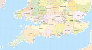 Devon England Map by Digital Uk Simple County Administrative Map 5 000 000 Scale