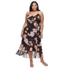 sangria faux wrap floral maxi dress plus size dresses