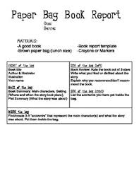 paper bag book report template paper bag book report with by cristina schubert tpt