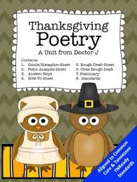 thanksgiving poetry similes and metaphors common tn ready aligned