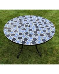Patio Tile Table Sweet Deal On Outdoor Round Concrete Cement Patio Dining Table