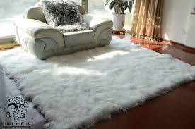 Tibetan Home Decor Decor White Fur Rug With Beige Tufted Chair And Dresser For Home