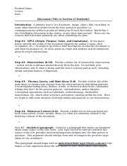 secondary source analysis template student name class secondary