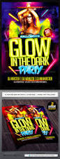 glow in the dark halloween flyer template flyer template dark