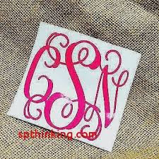 monogram letter stickers monogram car decal sticker new vinyl letter stickers citybirdsub