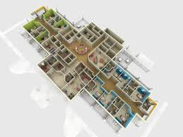 Residential Building Floor Plans by Hospice House Floor Plan Photorealistic 3d Rendering Prevision 3d
