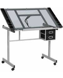 Drafting Table Glass New Savings On Best Choice Products Office Drawing Desk Station