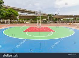 outdoor basketball court stock photo 436967077 shutterstock