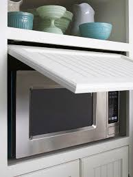 Built In Wall Toaster Appliance Cabinet Great To Hide Microwave Toaster Oven Coffee