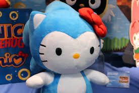 sonic the hedgehog hello kitty u003d adorable polygon