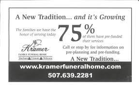 funeral pre planning kramer funeral home