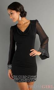 Black Cocktail Dresses With Sleeves Short Long Sleeve Party Dresses Dress Images