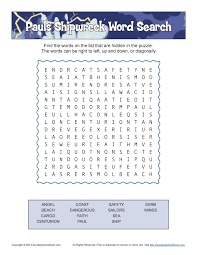 thanksgiving word search worksheets paul u0027s shipwreck word search bible activities for children