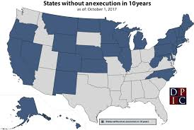 map usa penalty jurisdictions with no recent executions penalty