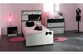 Chambre Ado Fille Noir Et Meuble Chambre Ado Fille 4 Lit Enfant 90x190 Cm Noir Et Blanc