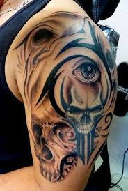 Skull Arm - free skull tattoos best in 2017