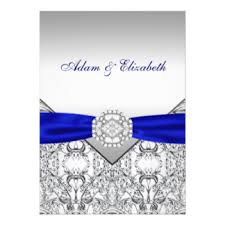 wedding invitations royal blue royal blue invitations announcements zazzle